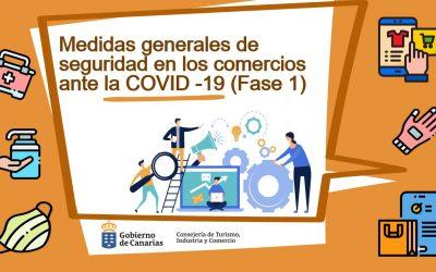 Fase 1: Medidas preventivas y de seguridad en los comercios ante la COVID-19